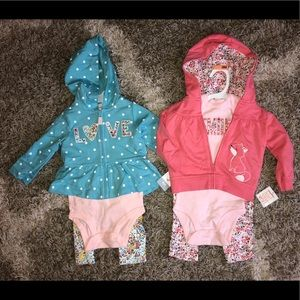 Two Carters Brand 3-pc outfits, 9 Months ~New~
